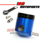 Blue CNC Billet Fluid Reservoir Brake Clutch For Motorcycle Buell