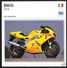 1994 Bimota 600 YB9 SR (598cc) Italy Bike Motorcycle Photo Spec Info Stat Card