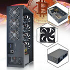 6 GPU Open Air Mining Frame Rig Case W 7 Fans For ONDA D1800 BTC Motherboard