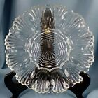 Anchor Hocking Clear Glass Fan Wave Deviled Egg Relish Tray Platter Plate