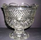 Anchor Hocking Wexford Glass Centerpiece Fruit Bowl diamond party wedding formal