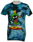 Marvin the Martian T shirt Looney Tunes Graphic Tee Cotton Bleached Blue NWT