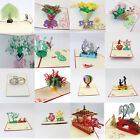 3D Pop Up Cards Carousel Lover Happy Birthday Wedding Anniversary Greeting Card