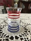 Vintage Anchor Hocking Betsy Ross Tumbler: Red, White and Blue Striped