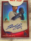 HYUN JIN RYU 2013 TOPPS CHROME RED REFRACTOR AUTOGRAPH ROOKIE 25