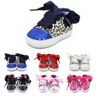 Baby Girls Soft Sole Leopard Lace up Sneakers Toddler Baby Shoes Prewalkers USA
