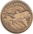 NASA ENTERPRISE ORBITER TEST PROTOTYPE INFORMATION ANTIQUE BRONZE 15 COIN