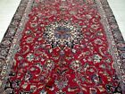 9X6 1940's AUTHENTIC HAND KNOTTED 70+YRS WORN ANTIQUE WOOL MASHAD PERSIAN RUG