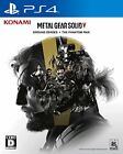 Used PS4 METAL GEAR SOLID V: GROUND ZEROES + THE PHANTOM PAIN Japan Import