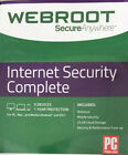 Webroot Internet Security Complete + Antivirus 2018 5 Devices 1 Year code