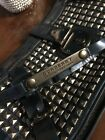 Burberry Prorsum Medieval Blue Patent Leather Studded Clutch Bag With Strap