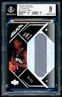 BGS 9 KYLE LOWRY 2006-07 UD Black Rookie Materials Autograph RC Patch #01 50
