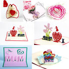 DIY Craft 3D Pop Up Greeting Cards Birthday Mothers Day Gifts Best Wishes