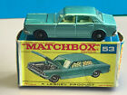 Old Vtg Lesney Matchbox 53 Ford Zodiac Toy Car Made In England With Orignal Box