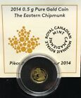 2014 Canada 25-cent 0.5 gram Gold Coin - Chipmunk