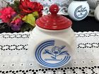 Vintage Anchor Hocking Vitrock Feather Grease Jar