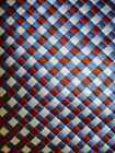 """JOS. JOSEPH A BANK RED WILVER WHITE BLUE CHECK WOVEN  SILK TIE 58"""" ITALY NWOT"""