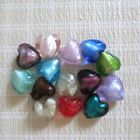 20mm Assorted Lampwork Glass Silver Foil Heart Beads