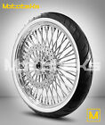 FAT SPOKE WHEEL 21X3.5 FOR HARLEY SOFTAIL MODEL ROTOR WHITE WALL TIRE MOUNTED