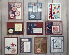 10 Handmade Americana Patriotic 4th of July Independence Day greeting cards env