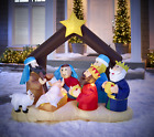 Alcove 65 Inflatable Christmas Nativity Scene LED Lights NNUTP