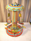 Vintage 1952 Chein RIDE A ROCKET 400 Tin Litho Wind up Toy w Box
