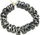 19 Fine old Venetian Antique rattle snake Wound African Glass Trade beads