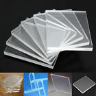 6 Packs Clear Acrylic Stamping Rubber Plexiglass Thin Blocks Pads Card Craft 5mm