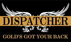 Thin Gold Line Dispatcher Golds Got Your Back Reflective Decal Various Sizes