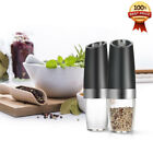 Electric Gravity Pepper  Salt Grinder with LED Light Kitchen Grinding ToolP