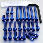 Pro-Bolt Titanium Engine Bolt Kit - Blue ECA120TIB Cagiva Mito 125 98+