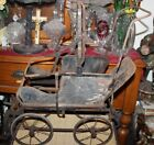 Antique Victorian Metal Frame Baby Doll Carriage Buggy-Country Decor