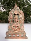 Antique Old Rare Copper Brass Engraved India Jain Lord Parashwnath Figure Statue