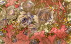 EXQUISITE ANTIQUE SILK LAME FLORAL FRAGMENT 8