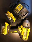 "Dewalt Dcf899h 1/2"" Impact Wrench Cordless 20v Lithium Batteries Charger Bag"