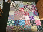 Antique Colorful Hand Quilted quilt 87