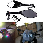 Naked Motorbike Scooter Dirt Bike 8-10mm LED Turn Signal Intergrated Side Mirror