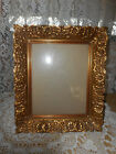UNIQUE VINTAGE GOLD ORMOLU PRESSED METAL, FLORAL PATTERN PICTURE FRAME