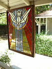 Vintage Church Stained Glass Window Holy Spirit Bird FREE CALIFORNIA PICK UP