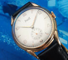 BEAUTIFUL VINTAGE PIAGET WATCH IN 18k GOLD PLATED BIG 37mm CASE FROM 1960