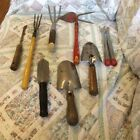 Lot of 10 RUSTIC GARDEN TOOLS Art Decor Wall Old Americana Vintage Yard Tools
