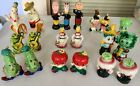 Lot Vintage Anthropomorphic Salt and Pepper Shakers 9 Pairs and 1 single