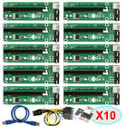 Lot USB 30 PCI E Express 1x To 16x Extender Riser Card Adapter 6PIN Power Cable