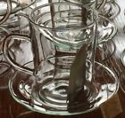 6 Feuerfest Saale glass and Saucers glas Cups Coffee Tea cappuccino demi  RARE