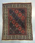 ca.1880 Wonderful Old ANTIQUE Persian Baluch Rug 4.2x3.4 Ft