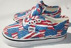 Vans Sz 65 7 Red white blue Nw boy Girl Shoes Sneakers USA Flag 4th July
