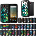For ZTE N817 Quest Uhura Pineapple Design Hybrid Bumper Clear Case Cover