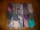 LOT 15 MENS USED NECKTIES PAISLEY STRIPES SOLID DOTS