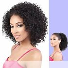 Motown Tress - TIO-121 - Heat Resistant Fiber Half Wig & Ponytail in OFF BLACK