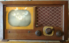 Vintage 1948 Admiral Model 19A15 Television Table Top Maplewood Cabinet